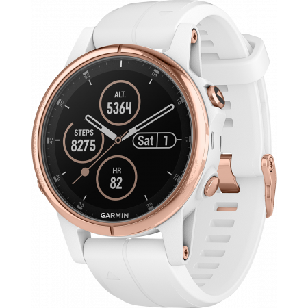 Смарт-помощник Garmin fēnix 5S Plus Sapphire Rose Gold with White Band
