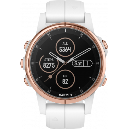 Internet of Things Garmin fēnix 5S Plus Sapphire Rose Gold with White Band
