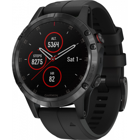Viedpalīgs Garmin fēnix 5 Plus Sapphire Black with Black Band