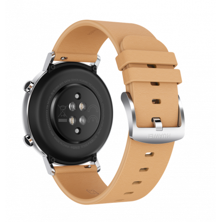 Internet of Things Huawei Watch GT 2 Classic 42 mm Gravel Beige with Khaki Leather Strap