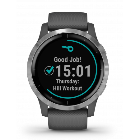 Смарт-помощник Garmin Vivoactive 4 Shadow Gray/Silver