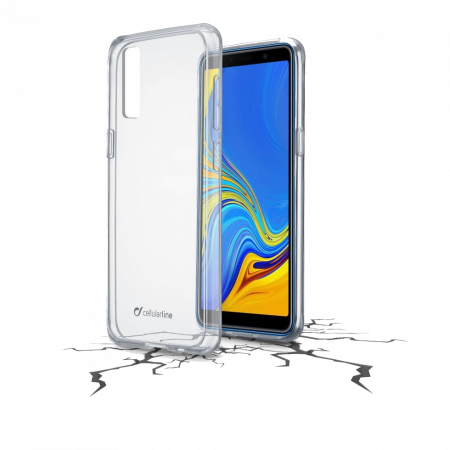 Aksesuārs Samsung Galaxy A7 2018 Transparent case Cellularline
