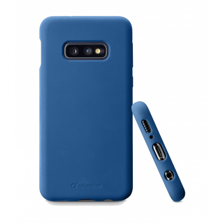 Аксессуар Samsung Galaxy S10e Sensation Silicone blue Cellularline