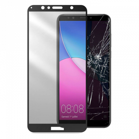 Аксессуар Second Glass Huawei Y6 2018 Cellularline black