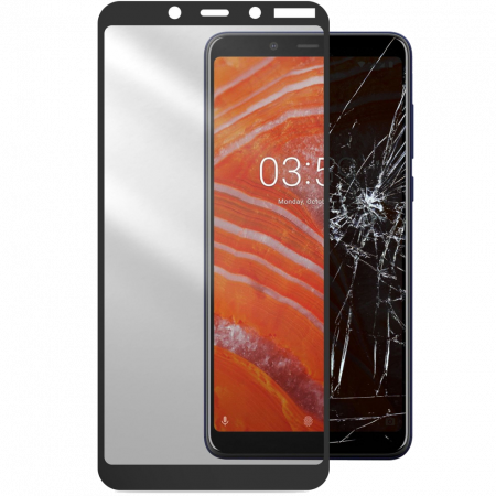 Аксессуар Second Glass Nokia 3.1 Plus Cellularline black
