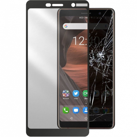 Accessory Second Glass Nokia 7 Plus Cellularline black