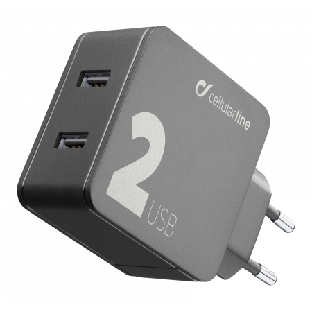 Aksesuārs adapteris Dual USB 24W Multipower 2 Cellularline