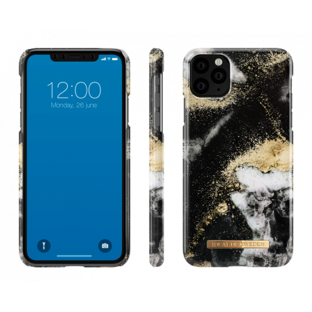 Aksesuārs iPhone 11 Pro Max iDeal Fashion Case Golden Black Galaxy Marble