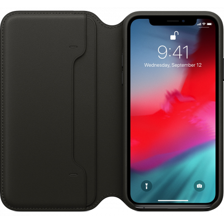 Aksesuārs iPhone XS Leather Folio