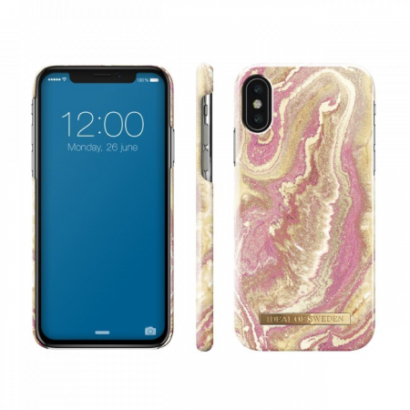 Aksesuārs iPhone Xs/X iDeal Fashion Case Golden Blush Marble