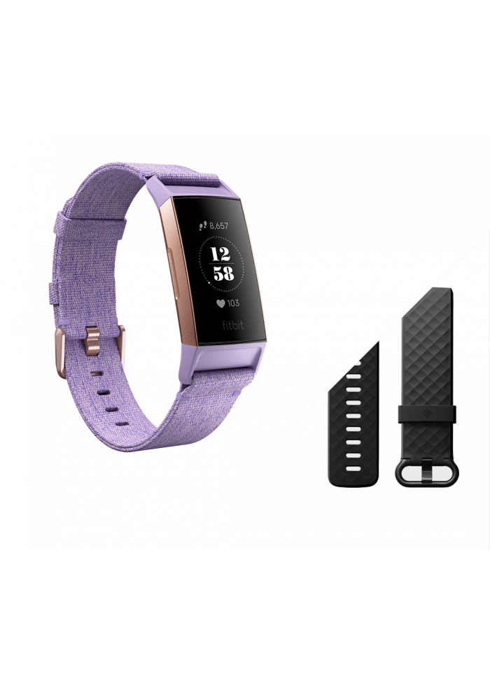 Fitbit Charge 3 Lavender Woven/Rose Gold