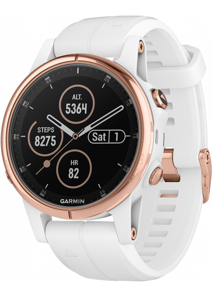 Viedpalīgs Garmin fēnix 5S Plus Sapphire Rose Gold with White Band