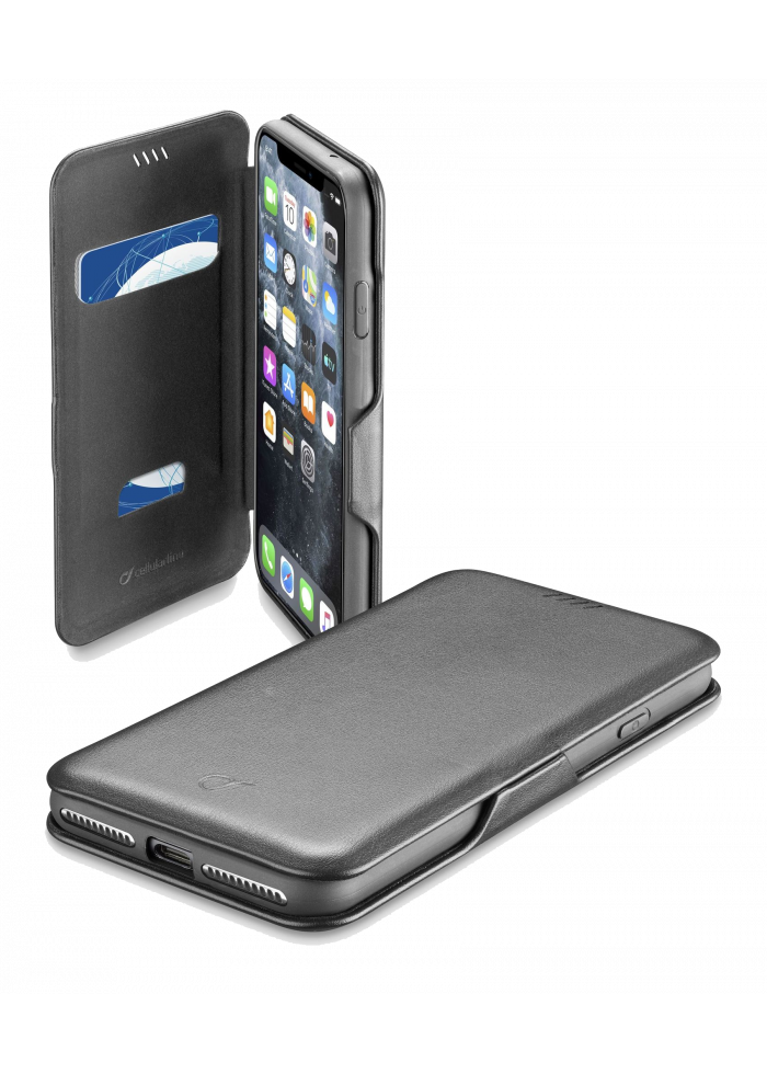 iPhone 11 Pro Max Book Clutch black Cellularline