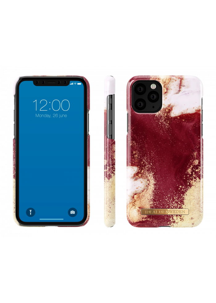 Аксессуар iPhone 11 Pro Max iDeal Fashion Case Golden Burgundy Marble