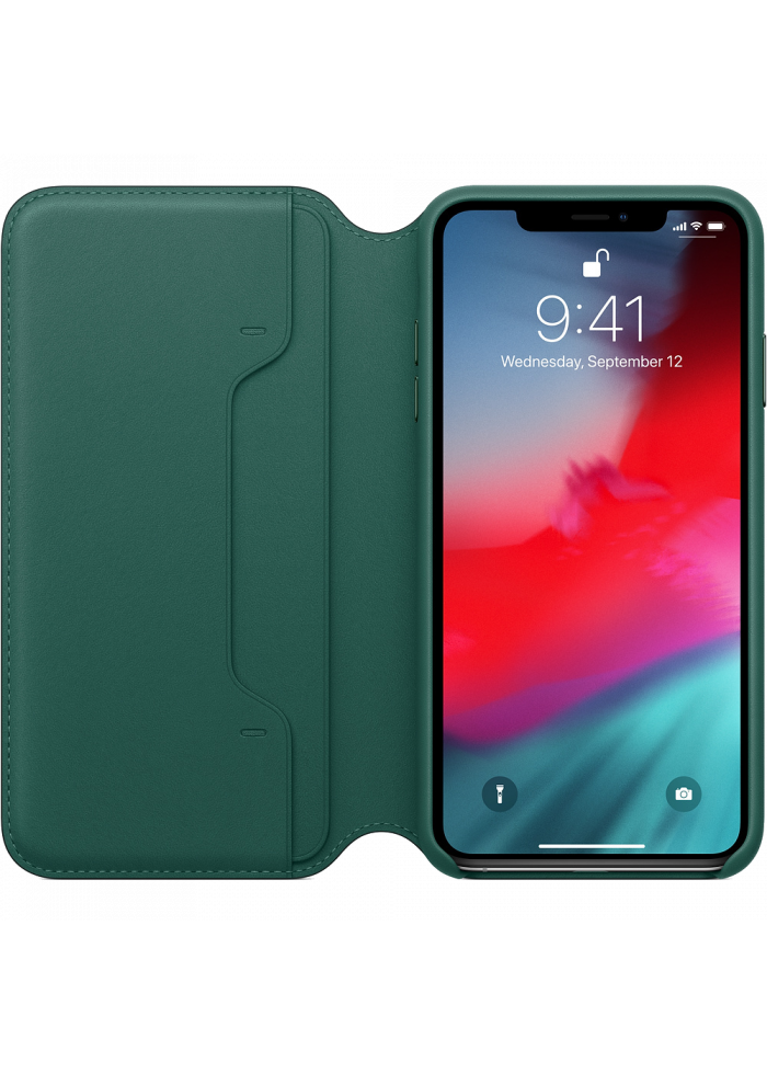 Aksesuārs iPhone XS Max Leather Folio